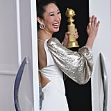 Sandra Oh celebrated a historic win in 2019 after taking home the honor for best actress in a TV drama for her role in Killing Eve. Sandra's win made her the first Asian to receive multiple Golden Globes.