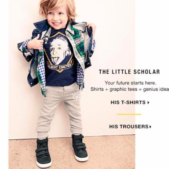 Sexist Gap Kids Ad With Einstein's Name Spelled Wrong