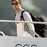 Robert Pattinson Pictures Leaving St. Thomas