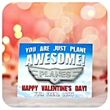 Planes Valentine's Day Cards