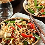 Veggie Lo Mein With Pan-Fried Tofu
