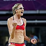We're still amazed that gold medalist Kerri Walsh was newly pregnant at the Olympics. The beach volleyball champ jumped, dove, and ran her way through her first trimester in London.