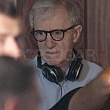 Woody Allen kept a close eye on the action.