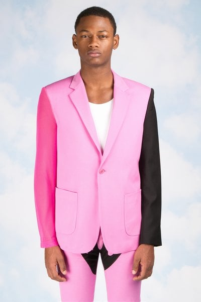 This pink and black jacket costs $595.