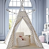 For 5-Year-Olds: Gold Metallic Dot Play Tent