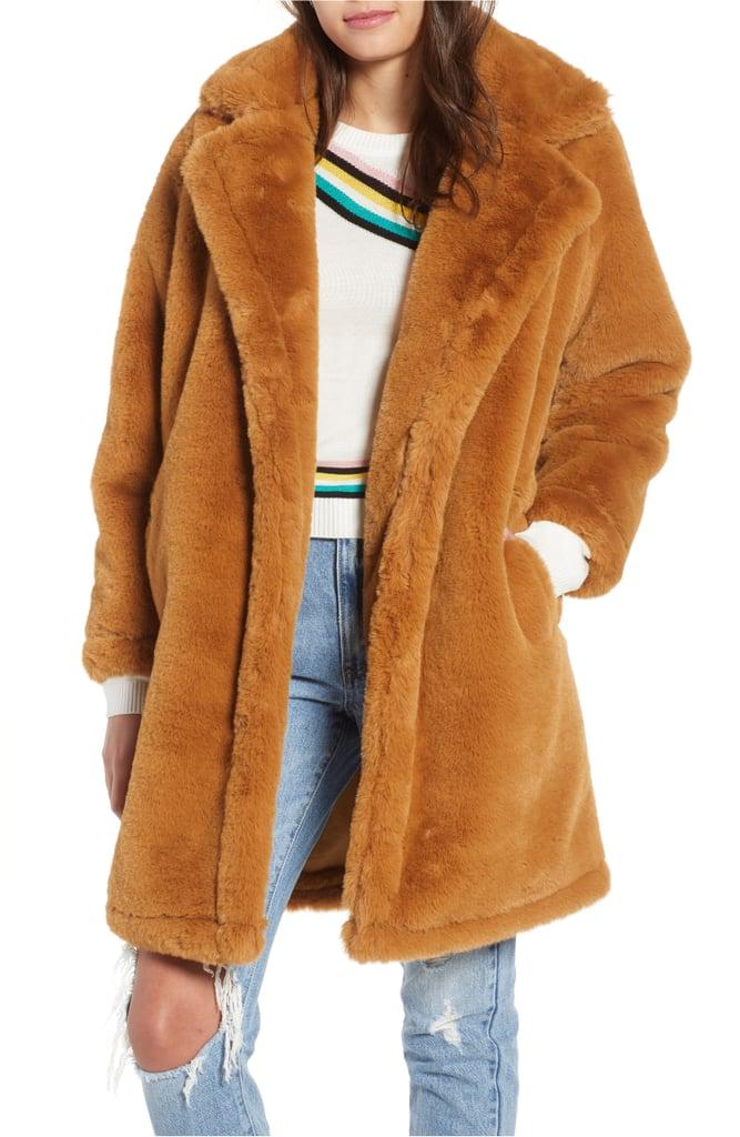 Woven Heart Faux Fur Teddy Coat Nordstrom Anniversary Sale Coats