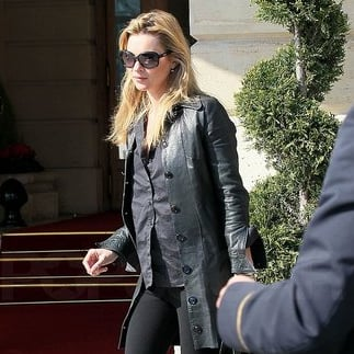 Pictures of Kate Moss in Paris For Fashion Week