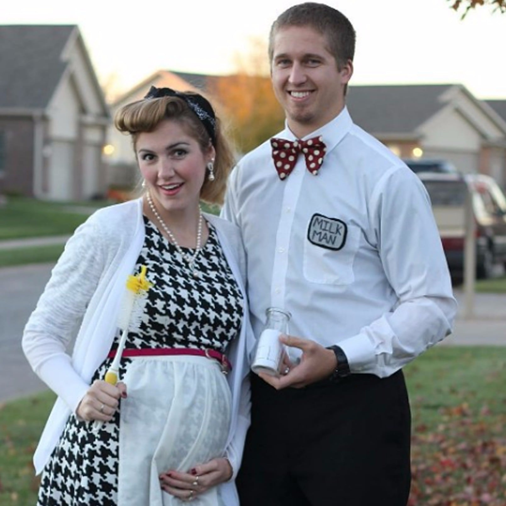 halloween costumes for pregnant couples popsugar moms - Pregnant Halloween Couples Costumes