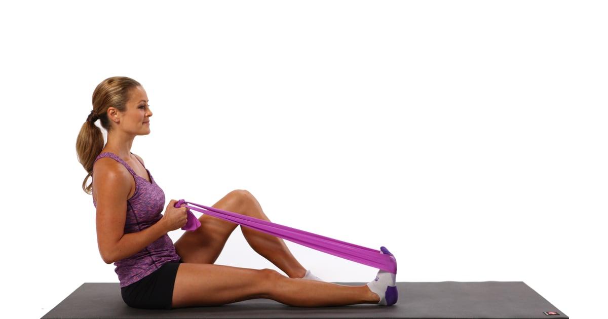 Seated Calf Stretch Best Recovery Stretches Popsugar
