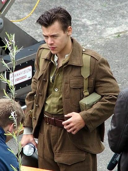Harry Styles Debuts His New Short Haircut on Set of World War II Battle Film Dunkirk