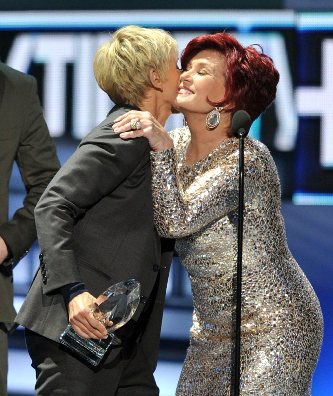 Ellen DeGeneres and Sharon Osbourne