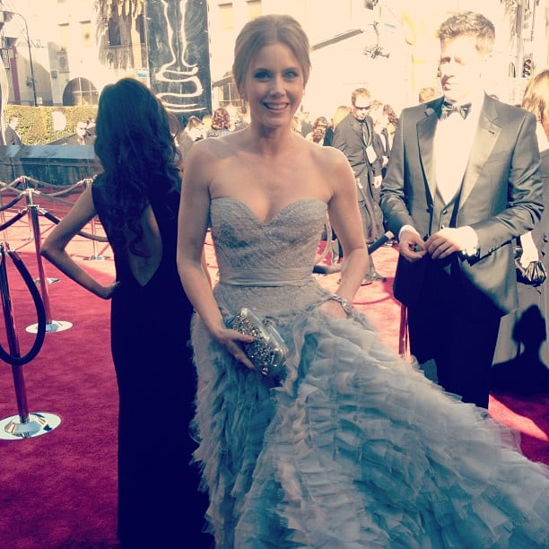 Amy Adams was all smiles on the Oscars red carpet. Source: Instagram user theacademy
