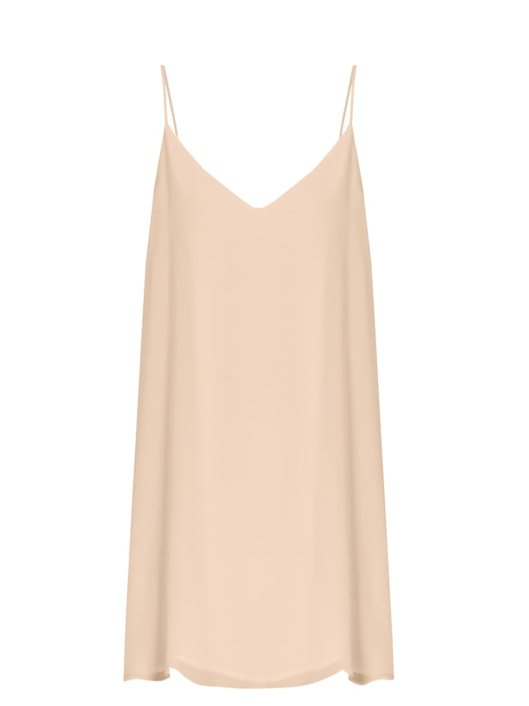 You can wear this slip dress ($190) with everything.