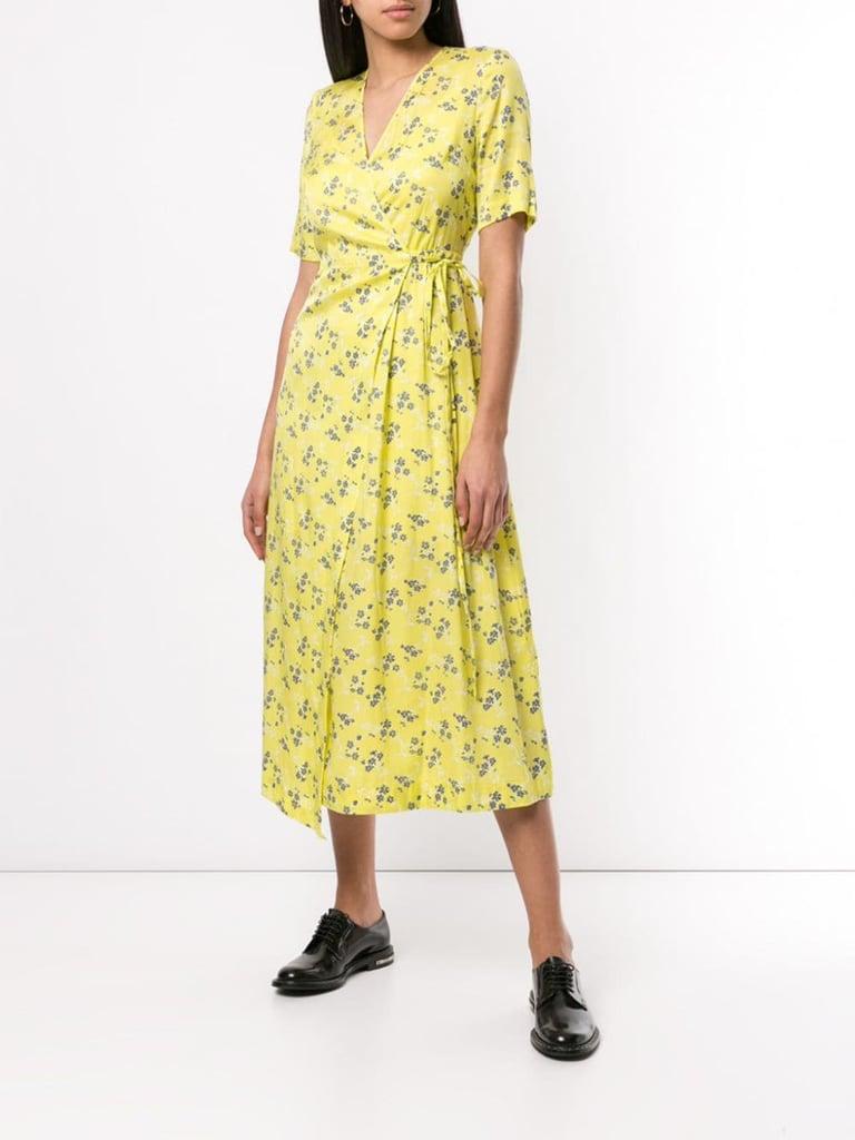 Shop Yellow Wrap Dresses