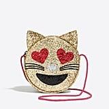 J.Crew Factory Glitter Cat Emoji