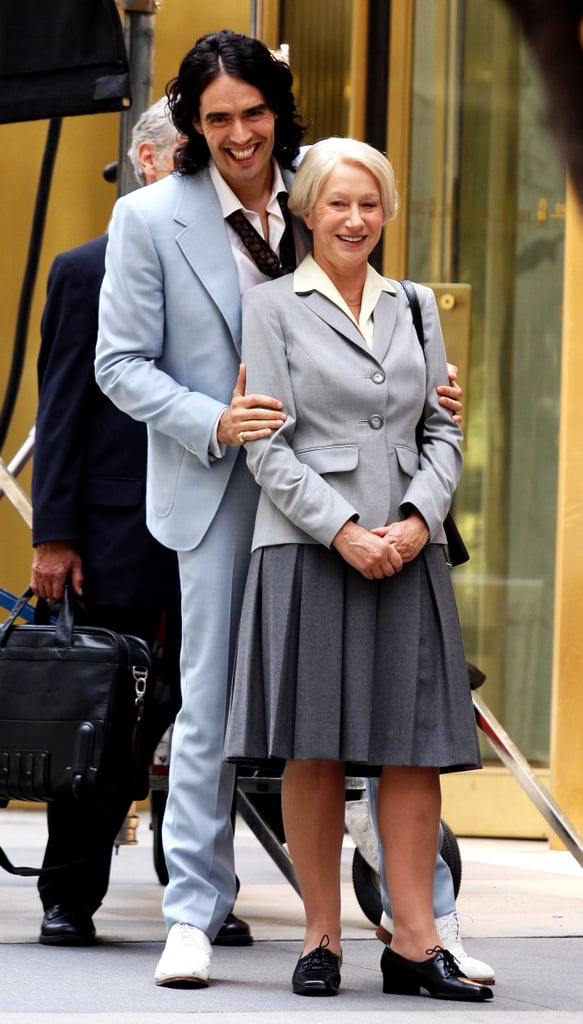 Pictures of Russell Brand and Helen Mirren