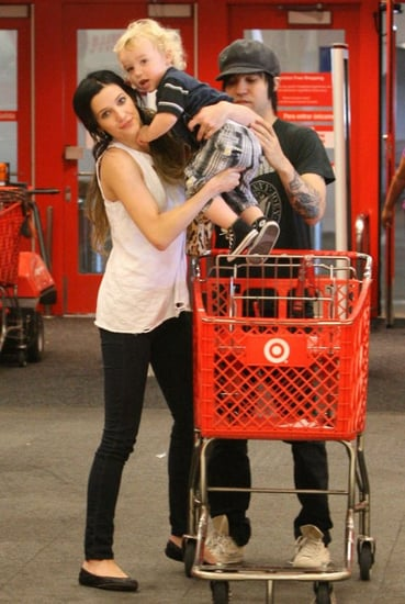 Ashlee Simpson Wentz and her family went shopping at Target in Sherman Oaks, Calif. on Saturday (August 21).