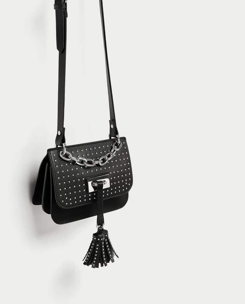 3224efdddb Zara Studded Crossbody Bag