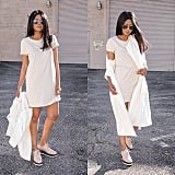 A Duster, T-Shirt Dress, and Platforms