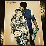 Fergie got a kiss from Josh Duhamel at her baby shower. Source: Instagram user joshduhamel