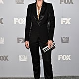 Jane Lynch swapped her heels for sneakers at the Fox party.