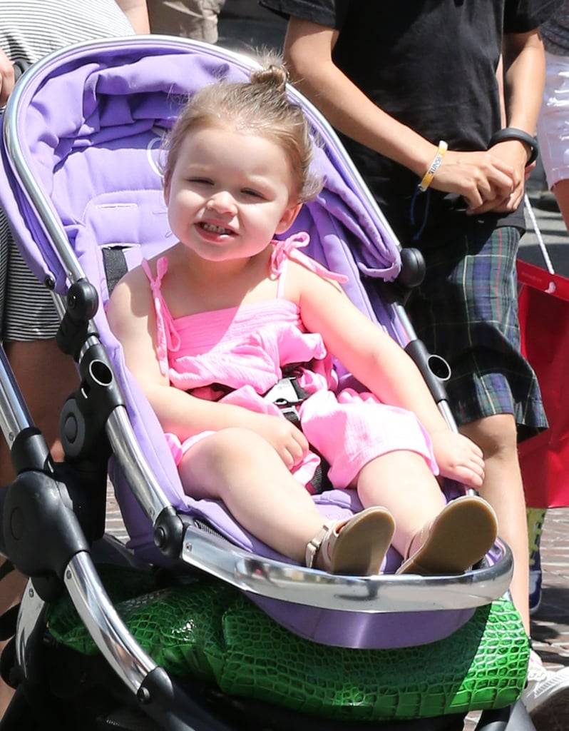 Harper Beckham smiled in LA on Monday.