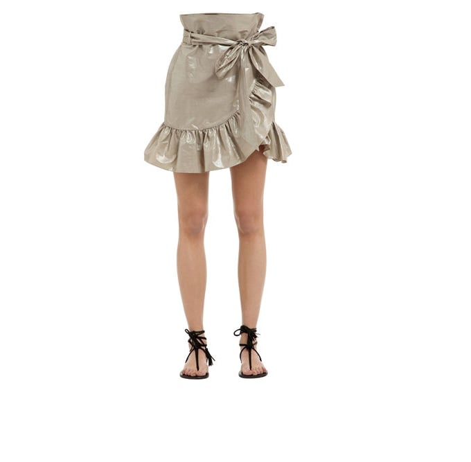 Isabel Marant Cotton and Linen Asymmetric Ruffled Skirt (Now $546, Was, $780)  Discount: Extra 20% off at checkout.