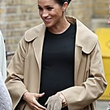 Meghan Markle Cow Print Gianvito Rossi Shoes January 2019