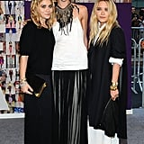 Sasha Pivovarova wore The Row, while both Olsen sisters also wore their brand, and Ashley wore Van Cleef & Arpels jewels.