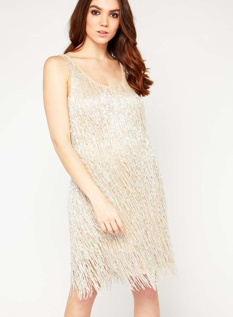 Miss Selfridge Premium Cream Fringe Camisole Dress (£150)