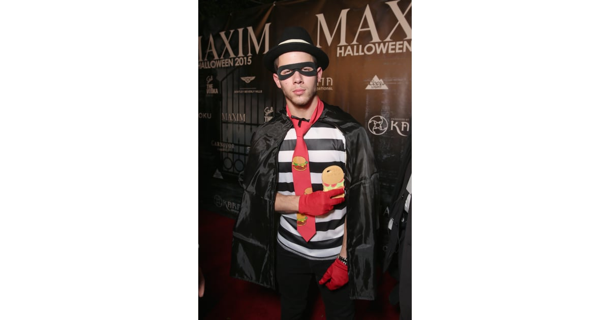 nick jonas as the hamburglar celebrity halloween costumes 2015 popsugar celebrity australia photo 63