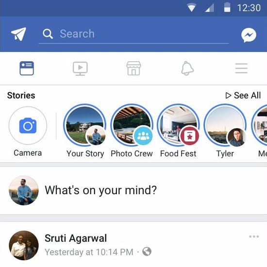Facebook Stories Added to Messenger, Events, Groups, Pages