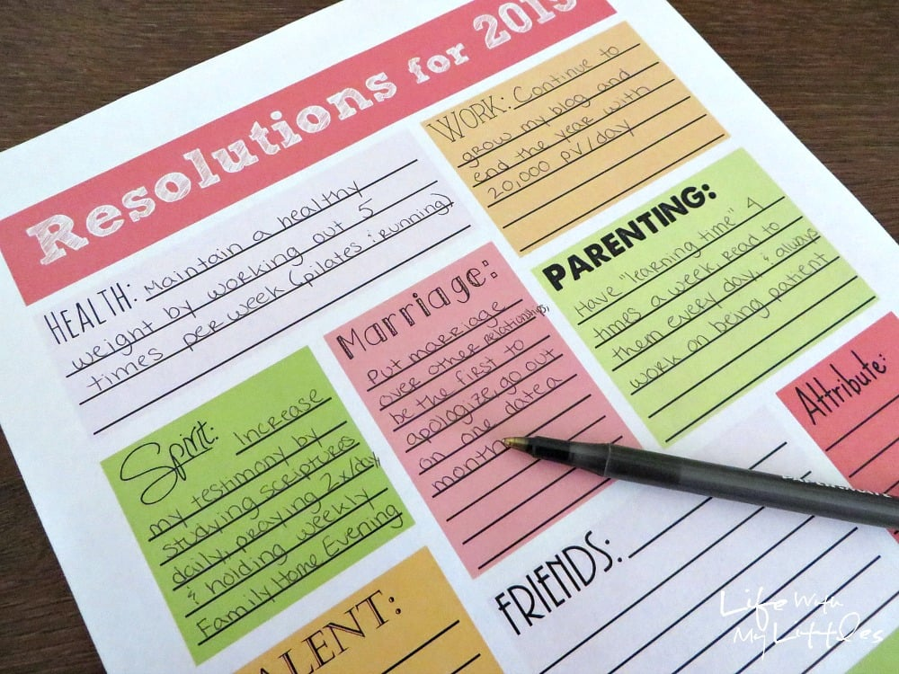new year s resolution printables smart living 11 resolutions printables to help ring in the new year