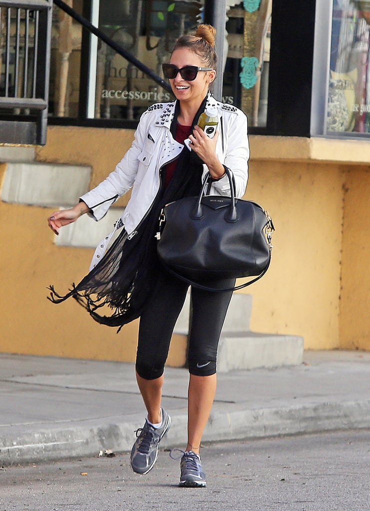 Nicole Richie wore Nike workout pants.