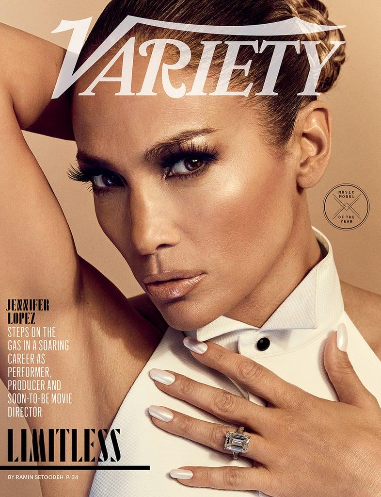 Jennifer Lopez's White Nail Polish Color For Variety Cover
