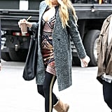 Blake Lively was on set to film Gossip Girl in NYC.