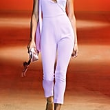 Cushnie Lilac Cropped Jumpsuit with Scarf Detail