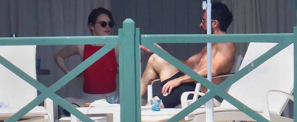 Emma Stone and Justin Theroux Beach Pictures May 2018