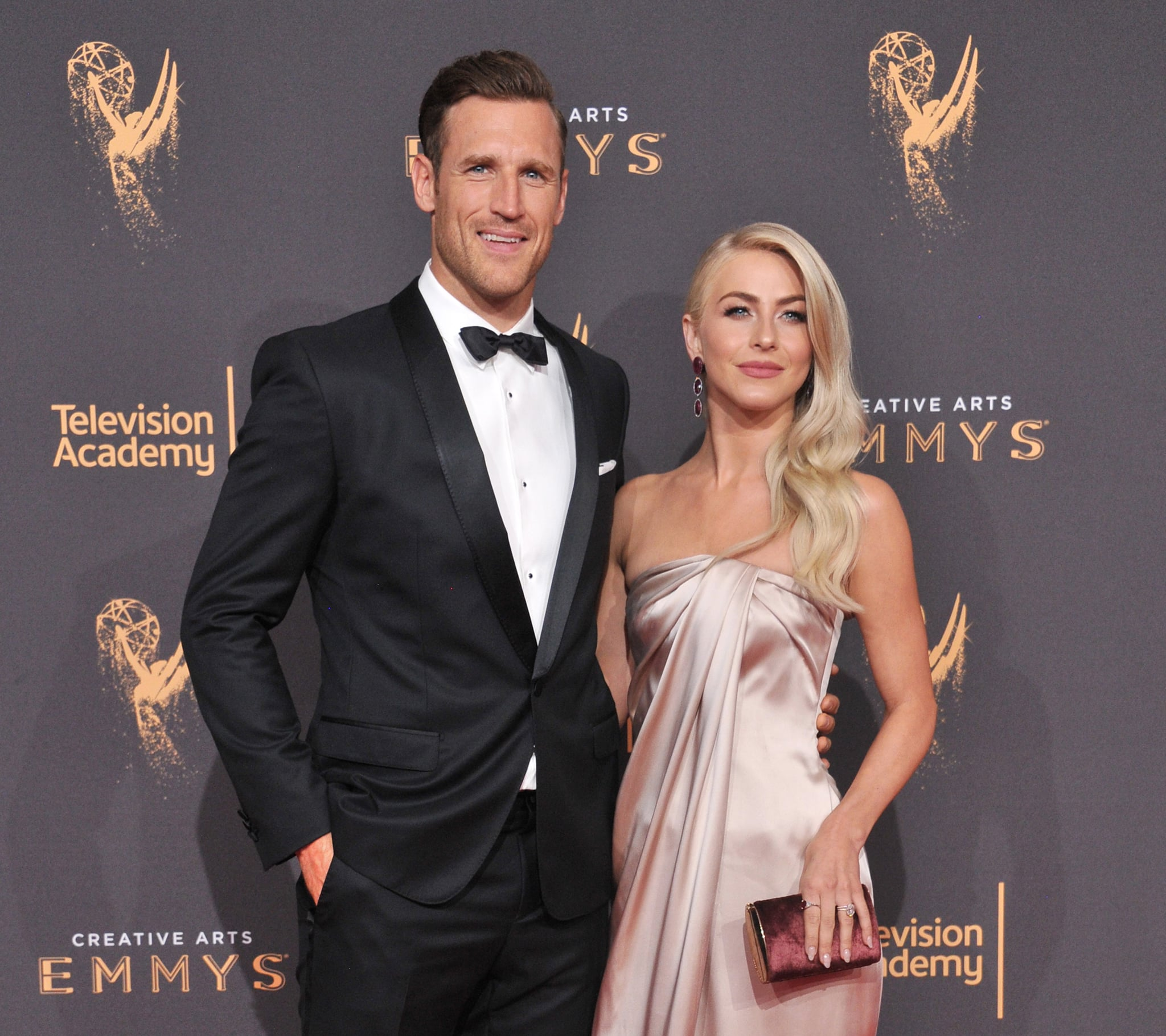 LOS ANGELES, CA - SEPTEMBER 09:  Julianne Hough and Brooks Laich arrive at the 2017 Creative Arts Emmy Awards - Day 1 at Microsoft Theater on September 9, 2017 in Los Angeles, California.  (Photo by Gregg DeGuire/WireImage)