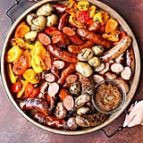 Grilled Sausages, Peppers, and Potatoes