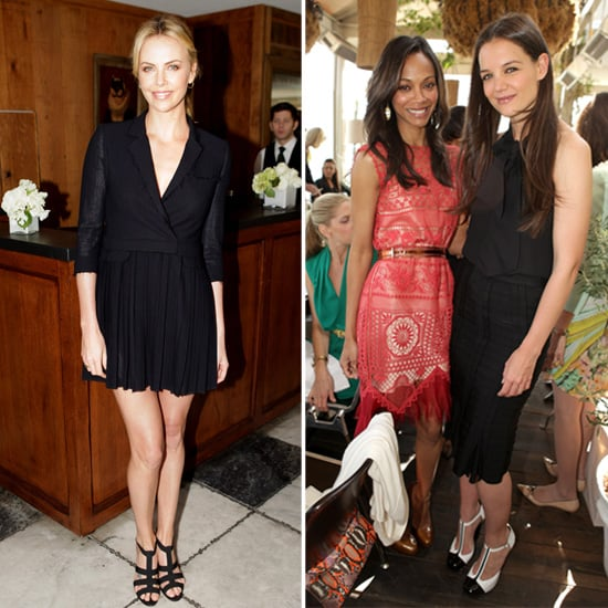 Charlize Theron and Katie Holmes With Stylists Pictures
