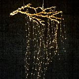 Create a cascade of lights from a suspended branch.