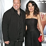 Salma Hayek and Kevin James posed for a photo together at the premiere in NYC.