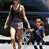 Alessandra Ambrosio and Anja Mazur Getting Frozen Yogurt