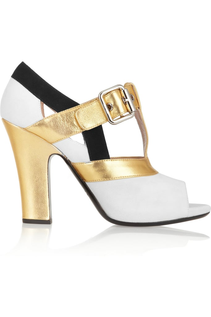 Miu Miu Metallic Leather and Suede Pumps ($553, originally $790)