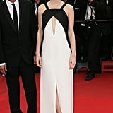 Mulligan went back to basics in a black-and-white Vionnet gown and satin Brian Atwood platforms for the Cannes Film Festival premiere of Inside Llewyn Davis.