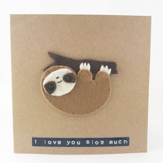 MombiAndTed Sloth Valentine