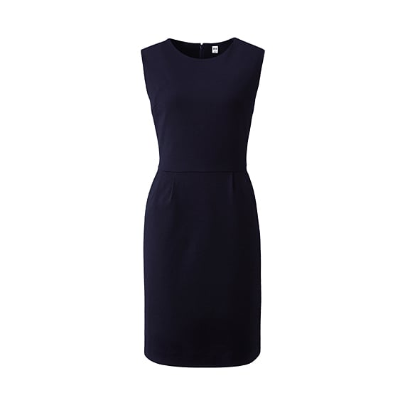 The most basic and essential of little work sheaths — under $15!  Uniqlo Women Ponte Sleeve Dress ($13)