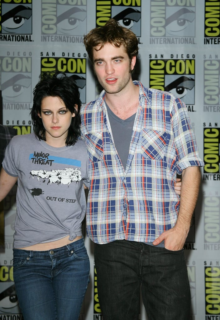 Robert Pattinson and Kristen Stewart hung out together in San Diego at Comic-Con in July 2009.