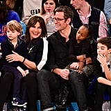 Peter Hermann and Mariska Hargitay With Family at Game 2018